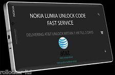 AT&T ALL NOKIA LUMIA 520 635 830 920 925 1200 UNLOCK CODE | FAST SERVICE