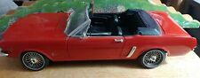 1964 1/2 FORD MUSTANG ERTL CONVERTIBLE 1/12 AMERICAN MUSCLE ORIGINAL Red.