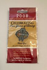 NASCAR Day 2008 Official Lapel Enamel Hat Pin Foundation Charity Anniversary