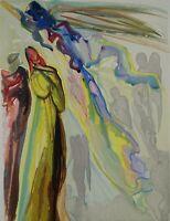 Dali Salvador: Paradise 16 - Holz Graviert Original,1960-1963,Göttliche Komödie