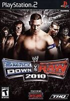 WWE SmackDown vs Raw 2010 Featuring ECW (Sony PlayStation 2, 2009) PS2 WRESTLING