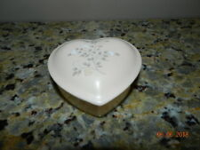 Pfaltzgraff Remembrance Covered Heart Trinket Box  Excellent Condition