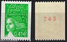Y&T n° 3458a Marianne de Luquet RF 2002 tb de roulette numéro rouge NEUF **