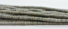 Grey Oyster Shell Heishi Beads  24 Inches Strand 4-5 mm