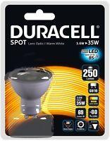 DURACELL LED GU10 BULB NOT HALOGEN BULBS 50MM 240V SAVING 85% ENERGY X 10