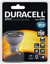 DURACELL LED GU10 LIGHT BULBS 240V SAVING 85% ENERGY PACK OF 10 NEW