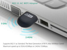 Wavlink 600Mbps Mini WiFi Adapter USB Dual Band Wifi Dongle 2.4GHz&5GHz For PC