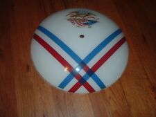 Vintage Patriotic Glass Round Ceiling Light Cover Shade Eagle Flag Americanna