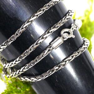Flechtkette Silberkette 925 Silber Mittelalter 46cm x 2,5 mm 14,3g Wikingerkette