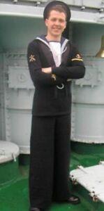 WW2 vintage RN Royal Navy sailors ratings serge wool square rig uniform set WWII