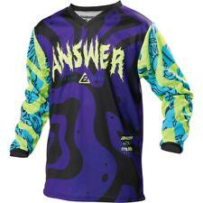 No Fear Motorcross Apparel Jersey Purple//Yellow Mens Large Jersey *REF48