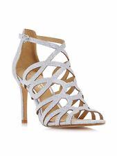 Head Over Heels Mae Caged Dressy Sandals Silver Glitter UK 8 EU 41 LN21 34