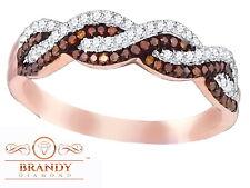 Brandy Diamond® Chocolate Brown 10K Rose Gold Lovely Eternity Ring .27Ct