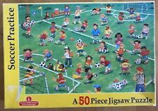 """50 piece """"Soccer Practice"""" jigsaw Puzzle - complete *FREE SHIPPING*"""