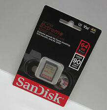 Sandisk 64G extreme C3 4K Ultra HD SD card for Panasonic AG-DVX200 DVX200 X1000