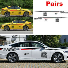 2PCS Waterproof Race Car Decal Vinyl Graphics Side Stickers Body Decals Sticker