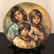 Royal Doulton Village Children Collectors Plate Hand Signed by Lisette DeWinne