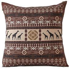 Bohemian Geometric Decoration Cotton Linen Pillow Case Cushion Cover Home Decor 7. Red Flower