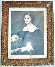 Gravure 19e, AGRICOLA Filippo, la comtesse Perticari, Cadre doré ancien