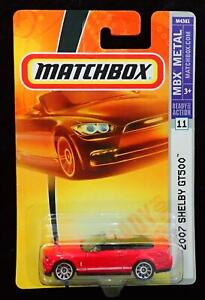MATCHBOX 2007 FORD SHELBY GT500 CONVERTIBLE MBX METAL - RED & BLACK - NEW