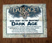 DARK AGE Collectible Card Game Promotional Poster 1996 Promo