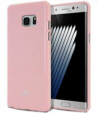Galaxy Note 7 Genuine MERCURY Goospery Metallic Pink Jelly Case Cover FREE Post