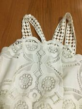 Alexis Dress Sz XS - SM  Exquisite White Crochet Lace Mini Lined  Retail $350