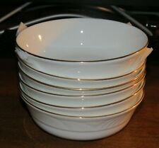 "6 Lenox Snowdrift Gold 6 1/4"" Cereal Bowls MINT UNUSED!!"