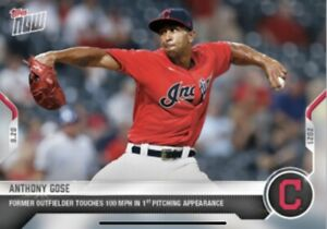 2021 TOPPS NOW CARD CLEVELAND INDIANS ANTHONY GOSE #836 FORMER OF TOUCHES 100MPH
