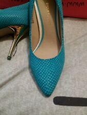 River Island ladies heels turquoise shoes , size 5 (38) NEW In box
