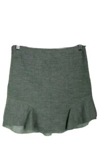 AS NEW Country Road 12 M Skirt Grey Wool Scallop Hem $269 Work Party TRENERY