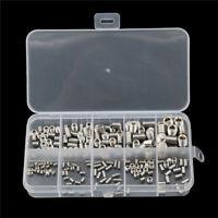 200pcs Stainless Steel Allen Head Socket Hex Set Grub Screw Assortment Kit DSUK