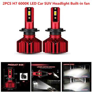 2PCS H7 LED Headlight Super Bright Bulbs Kit 10000LM Lights White 6000K 9V-32V