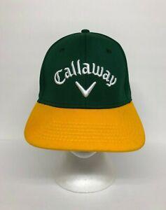 Callaway Golf Baseball Hat Cap A-Flex Stretch Fit Size S/M Color Block Green