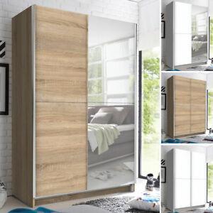 Schwebetürenschrank Kleiderschrank Garderobenschrank mit Spiegel Garderobe Fast
