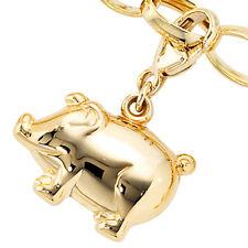 Einhänger Charm Schweinchen Schwein 333 Gold Gelbgold Glücksbringer Goldcharm