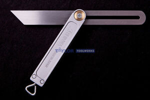 "Shinwa Japanese 8"" Sliding Bevel Gauge w/ Aluminum Base & Stainless Steel Blade"