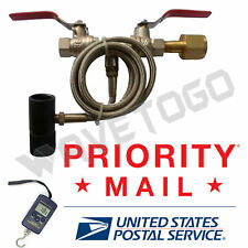 """Paintball Dual Valve Lever 40"""" Hose Co2 Fill Station Refill #01 Digital Scale"""