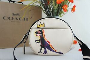 NWT Coach C5451 X Jean-Michel Basquiat Canteen 22 Leather Ivory Multi $298