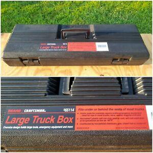 "Vintage SEARS CRAFTSMAN 26"" Large Truck Tool Box PERMANEX Under Seat 9-65114 USA"