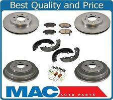 Fits For 03-05 Honda Civic Hybrid Front Disc Rotors Pads Brake Drums & Shoes 7Pc