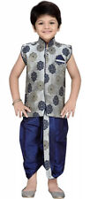 Kids Indian Wear Bollywood Style Kurta Dhoti Set for Boys AJ Dezines Size 7