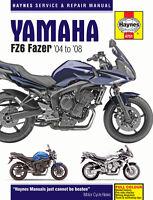 Yamaha FZ6 Fazer 2004-2008 Haynes Manual 4751 NEW