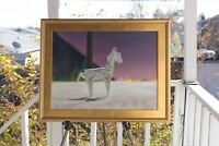 """Contemporary Art """"Rocinante""""- (Oil, 18x24) FRAMED Origami Horse Painting"""