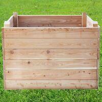 Großer Holz Komposter 520 Liter Volumen extrem Stablil aus Lärche 104x68cm