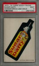 1973-75 Topps Wacky Packages Sugar Daffy Wonder Bread 2nd Series PSA 9 MINT Card