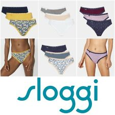 Sloggi 24/7 Weekend Tai Briefs 3 Pack 96% Cotton & Elastane Knickers RRP £18