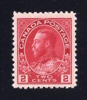 Canada Sc #106c (1914) 2c Rose Carmine Admiral VF NH
