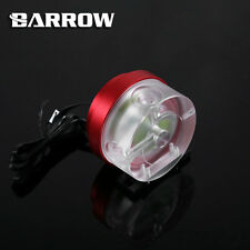 Barrow PWM Controllo Velocità 10w Pompa Acqua Acrilico COVER CUSTODIA IN ALLUMINIO rosso