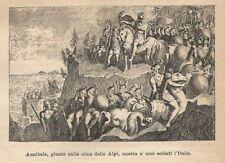 A8169 Hannibal IN Den Alpen Lackschuhe Sneakers Soldaten D'Italia - Holzschnitt